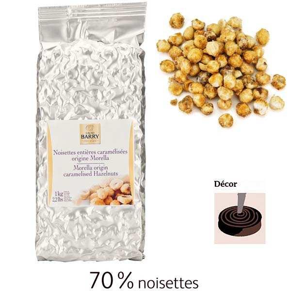 Whole caramelized hazelnuts origin Morella