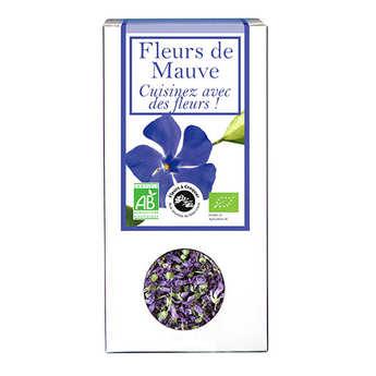 Aromandise - Fleurs de mauve comestible bio pour infusion et cuisine