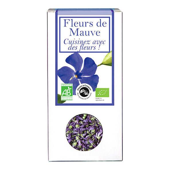 Organic edible purple flower