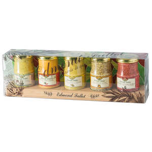 Fallot - Présentoir de cinq moutardes