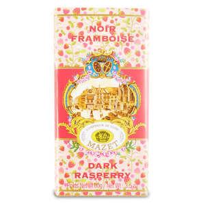 Mazet de Montargis - Tablette chocolat noir framboise