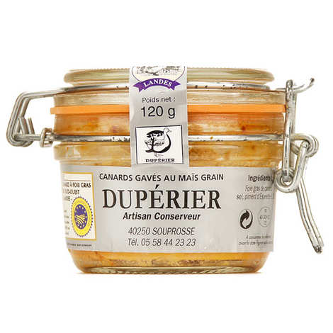Duperier et fils - Whole Foie Gras with Espelette red pepper from South-West of France