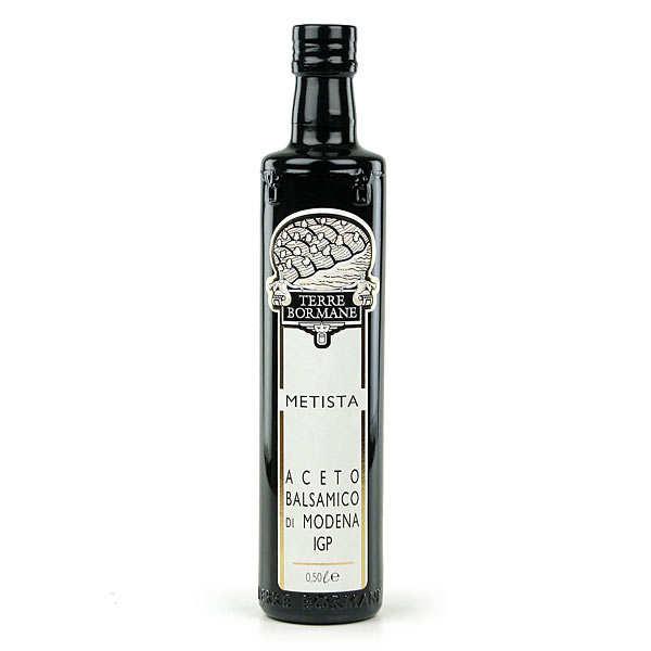 Vinaigre balsamique de modène metista (anciennement riserva) - bouteille verre 50cl