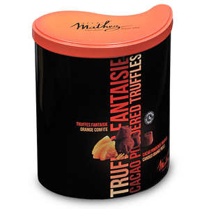Chocolat Mathez - Les inséparables - truffes fantaisies caramel orange confite