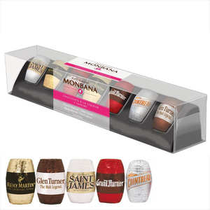 Monbana Chocolatier - Chocolats noirs à la liqueur - 5 variétés