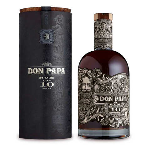 Bleeding heart rum company - Don Papa Rum 10 year old - Small Batch from the Philippines - 43%