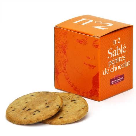 Biscuiterie La Sablésienne - Le cube n°2 sablé de Sarthe pépites de chocolat