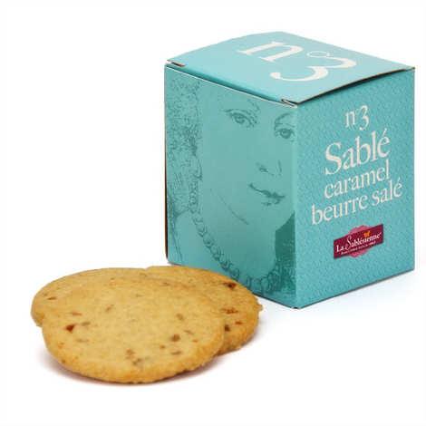 Biscuiterie La Sablésienne - Le cube n°3 sablé de Sarthe caramel au beurre salé