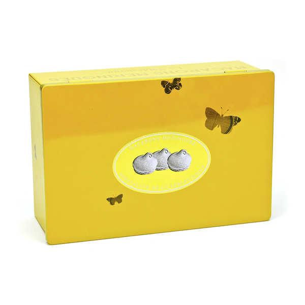 Boîte métal macarons meringués au caramel
