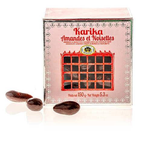 Mazet de Montargis - Karika Mazet - Almonds and Hazelnuts coated with dark chocolate