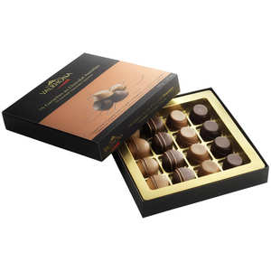 Valrhona - Coffret 16 ganaches gourmandes assorties Valrhona