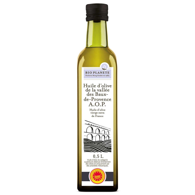 Huile d'olive vierge AOP Vallée des Baux-de-Provence bio