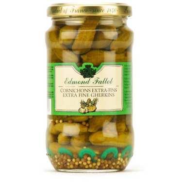 Extra fine gherkins in vinegar