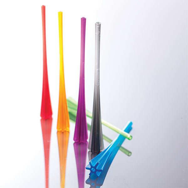 Cocktail muddler straw