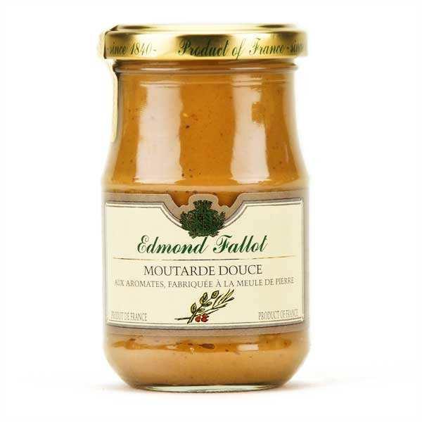 Moutarde brune douce aux aromates et au vinaigre