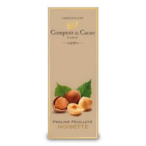 Comptoir du cacao - Tablette praliné feuilleté à la noisette - comptoir du cacao