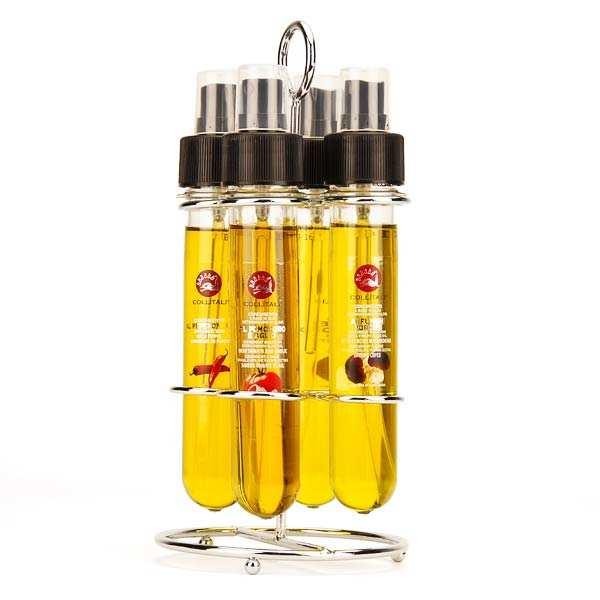 Distributeur 4 huiles aromatisées avec sprays