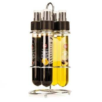 La Collina Toscana - Distributeur 2 vinaigres + 2 huiles aromatisés avec sprays