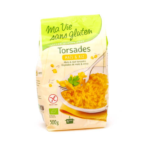 Ma vie sans gluten - Torsades maïs et riz - pâtes bio sans gluten
