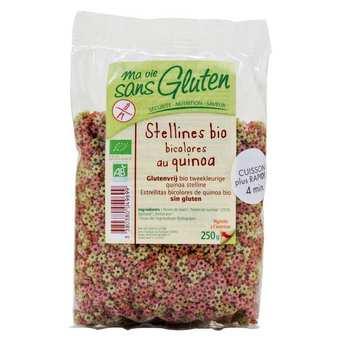 Ma vie sans gluten - Stellines bicolores au quinoa - pâtes bio sans gluten