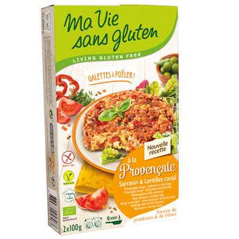 Ma vie sans gluten - Galettes prêtes à poêler tomates et lentilles corail bio sans gluten
