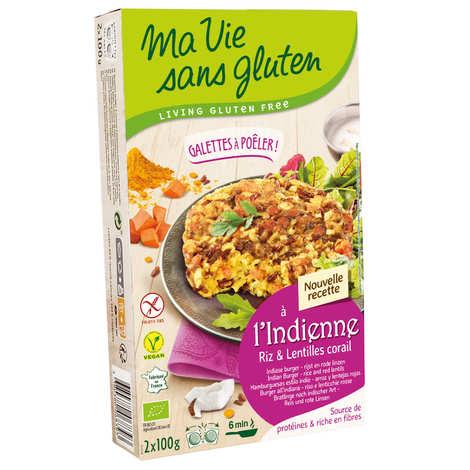 Ma vie sans gluten - Galettes prêtes à poêler riz Camargue et lentilles corail sans gluten