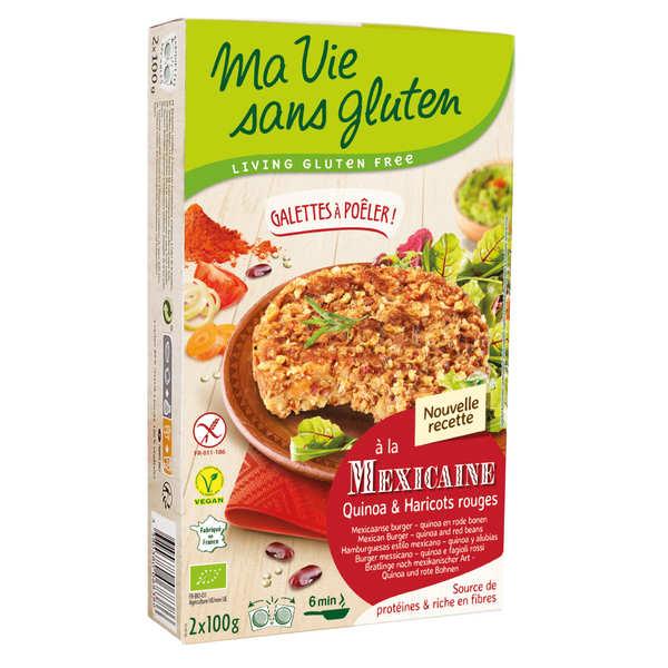 Galettes prêtes à poêler quinoa et haricot rouge bio sans gluten