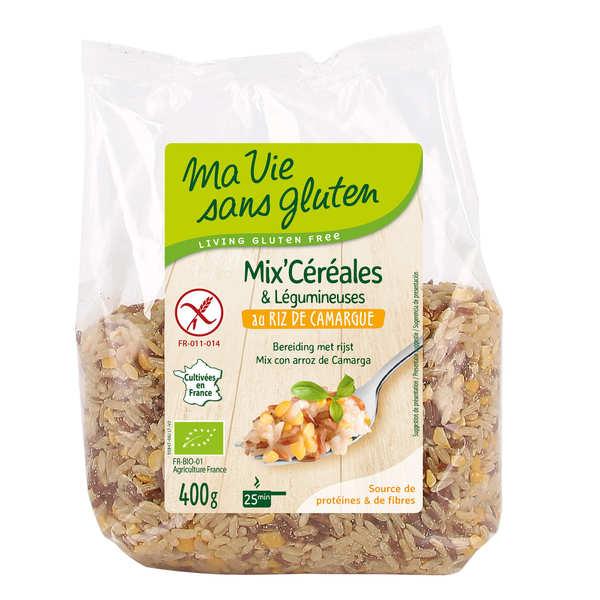 Mix céréales & légumineuses au riz de Camargue bio sans gluten