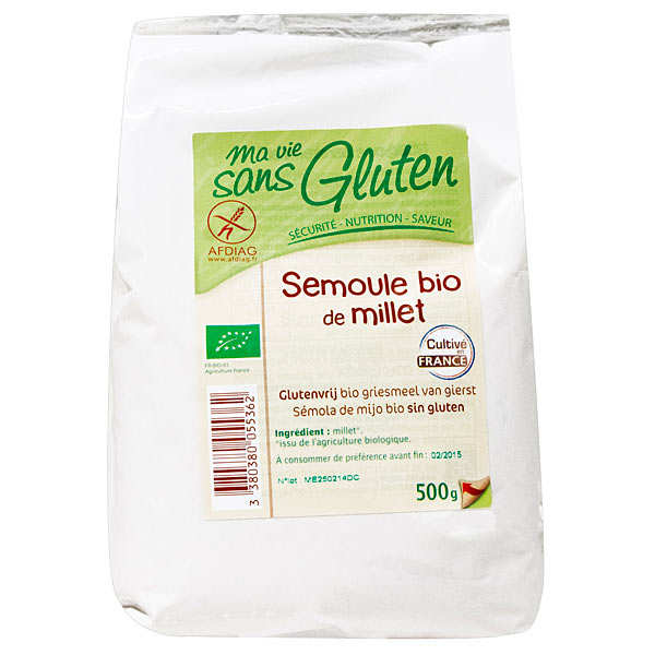 Semoule de millet bio sans gluten