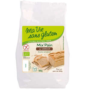 Ma vie sans gluten - Organic bread preparation with buckwheat  - Gluten free