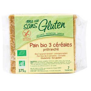 Ma vie sans gluten - Pain bio aux 3 céréales - sans gluten