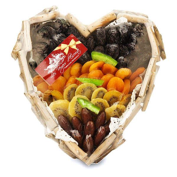 Coeur en bois flott de fruits secs assortis les vergers for Coeur en bois flotte