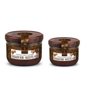 Bovetti chocolats - Traditional Hazelnut and Dark Chocolate Spread