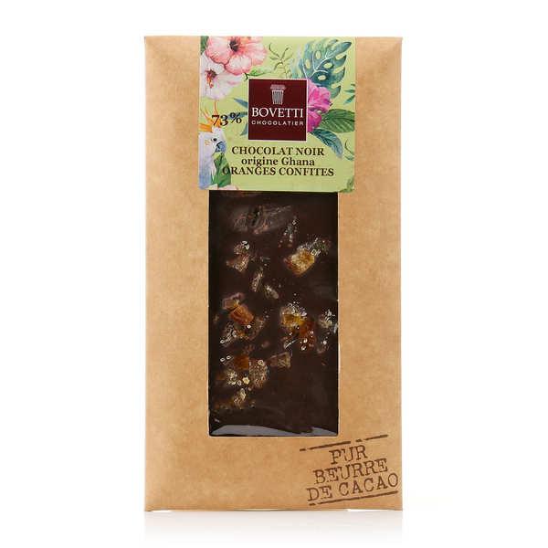 Tablette chocolat noir orange