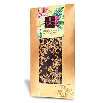 Bovetti chocolats - Plain chocolate with cocoa beans
