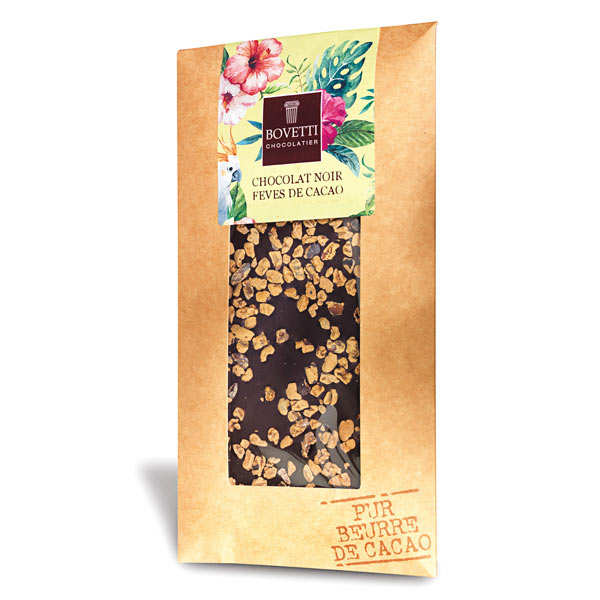 Tablette chocolat noir fèves de cacao