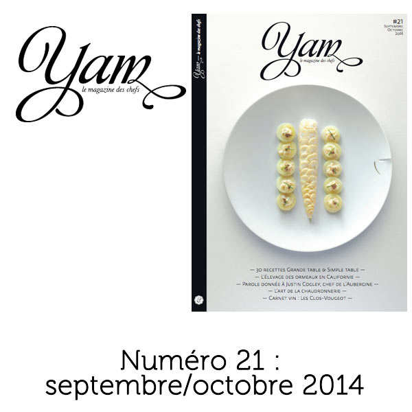 French magazine about cuisine - YAM n°21