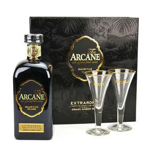 Arcane - Arcane Extraroma rhum en coffret cadeau 2 verres