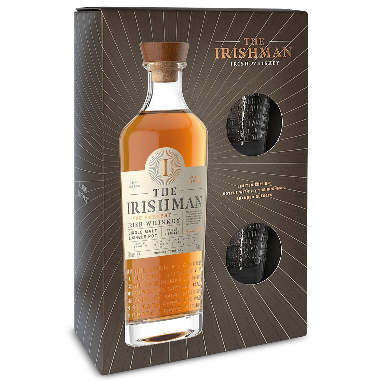 The Irishman Founder's Reserve coffret whisky irlandais 2 verres