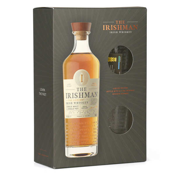 The Irishman Founder's Reserve gift box with 2 glasses