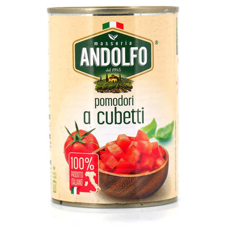 Masseria Andolfo - Tomates italiennes concassées - Pomodori a cubetti