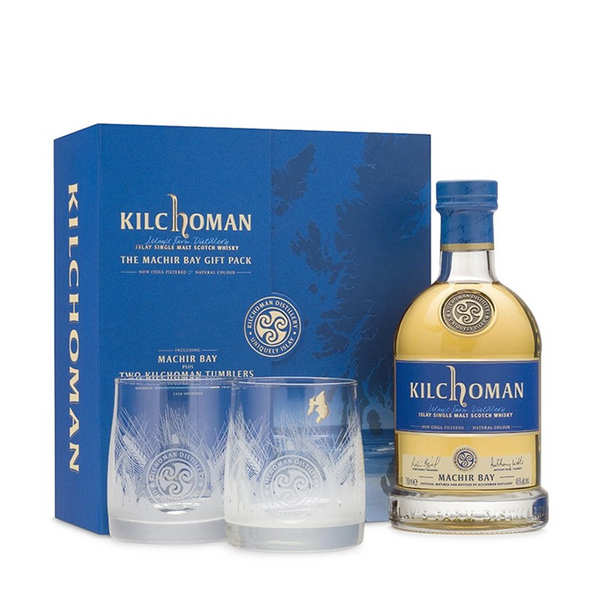 Kilchoman Machir Bay Whisky 2 glasses gift box - 46%
