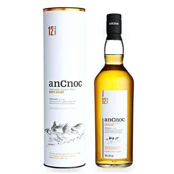AnCnoc 12 years single malt whisky 40%