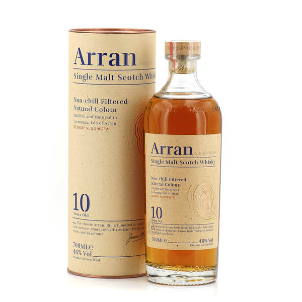 Whisky Arran single malt 10 ans 46%