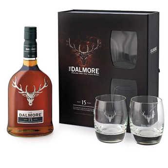 Dalmore - Dalmore 15 ans - single malt whisky - coffret 2 verres - 40%