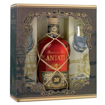 Plantation Rum - Coffret cadeau rhum Plantation Rum XO 20th Annniversary 2 verres