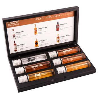- Coffret cadeau Rhum - 6 rhums du monde en tubes