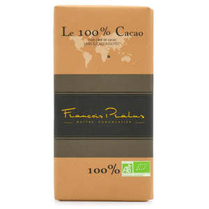 Chocolats François Pralus - Tablette de chocolat noir criollo 100% Madagascar bio