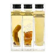 Liqueurs Fisselier - Coffret de 3 punchs au rhum arrangé (orange, banane, gingembre) 18%