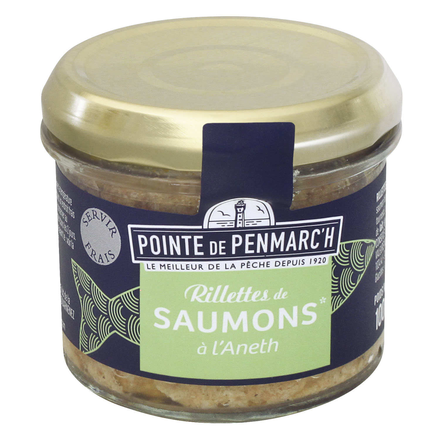 Salmon rillette with dill